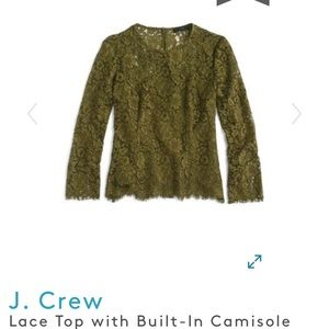 J.Crew top with Built-In Cami